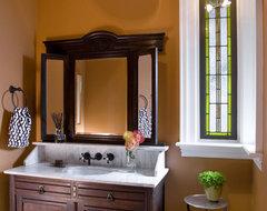 Eclectic Modern Tudor Bath traditional-bathroom