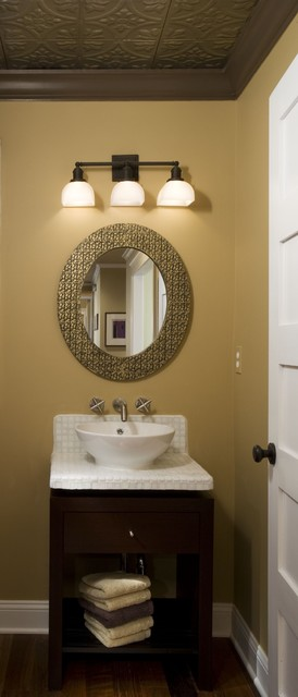 Eclectic Powder Room Contemporary Bathroom Detroit