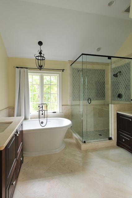 eclectic spa masterbath traditional-bathroom