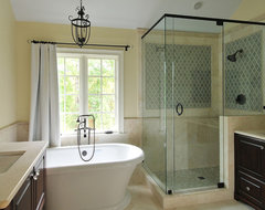 eclectic spa masterbath traditional-bathroom