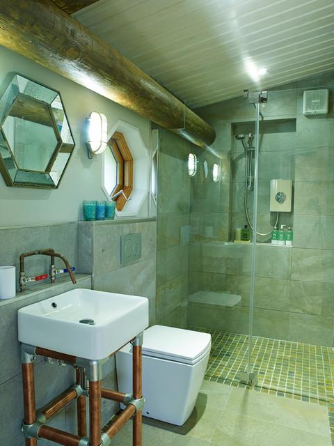 Eco Friendly Holiday Home Bathroom Wales By Cream Black Interior Design