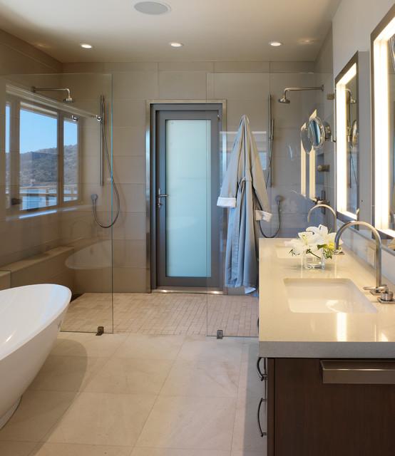 Eco friendly modern in tiburon traditional bathroom for Bathroom remodel mckinney