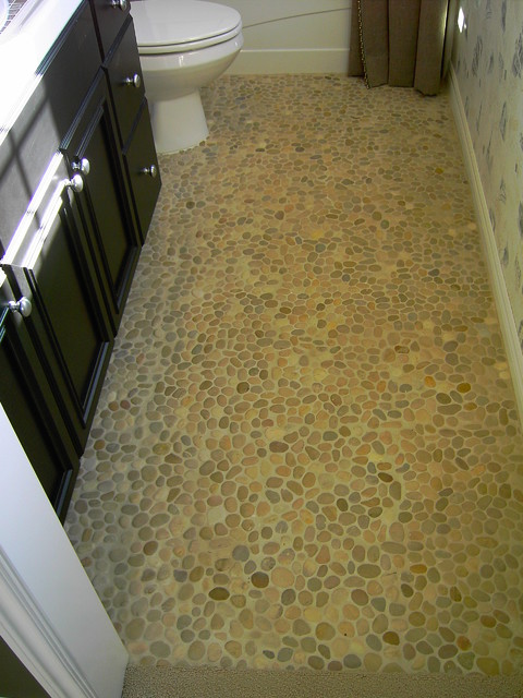 Eco Friendly Smooth Stones Used In Floor Design Eclectic