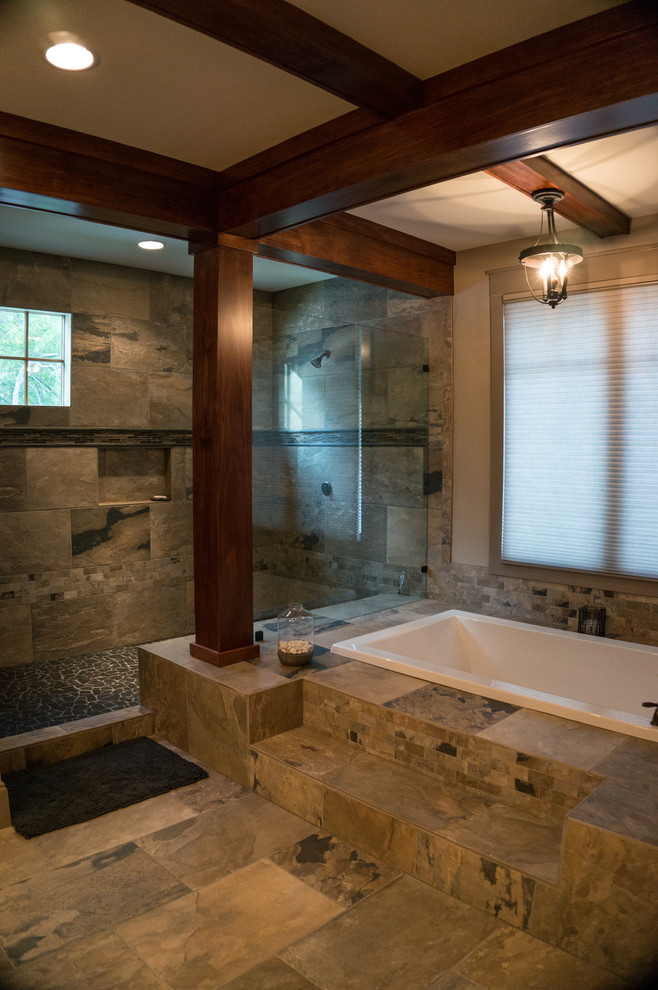 Mountain style bathroom photo in Other