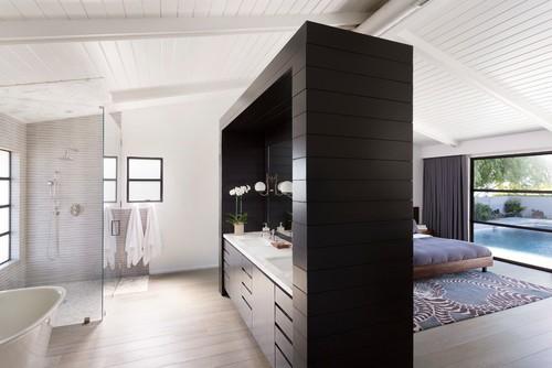 Bagno Aperto In Camera : Il bagno open space in camera da letto contemporaneo e luminoso