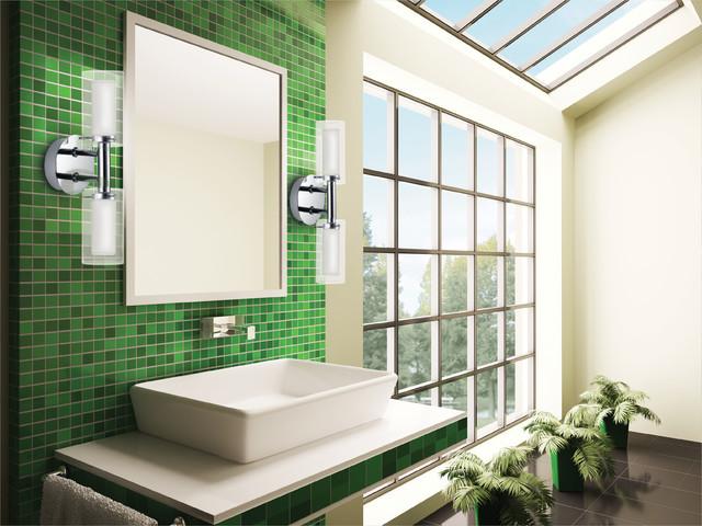 Eglo 88194A Palermo Chrome Wall Sconce - contemporary - bathroom