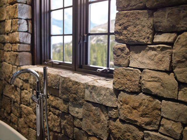 Eldorado Stone Rustic Bathroom Rustic Bathroom Other