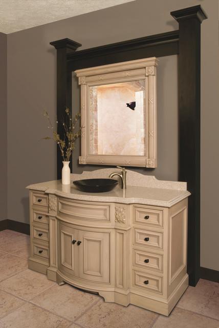 Fancy bathroom vanity display traditional bathroom for Fancy vanity mirror