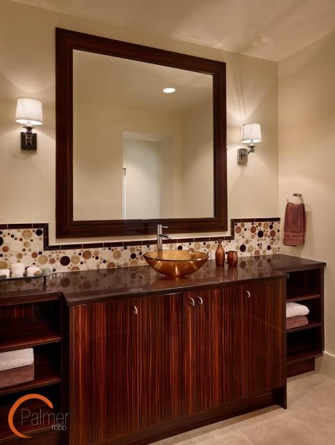 Elegant Chic Pool Bath modern-bathroom