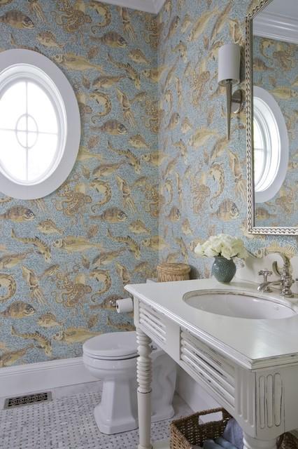 Elegant Coastal Home Victorian Bathroom