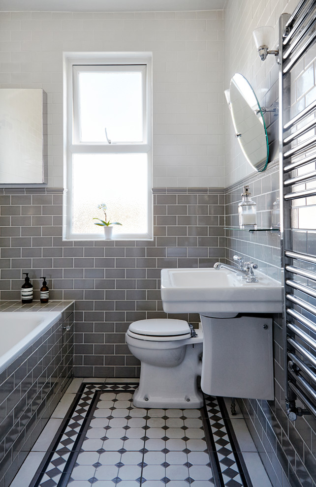 Elegant Edwardian Bathroom, London - Traditional - Bathroom - London - By Born & Bred Studio