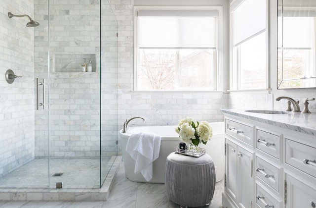 Marble Tile Brings Spa Like Luxury To A Master Bath