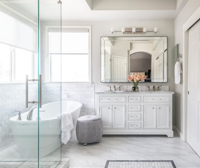 elegant el dorado hills master bathroom  transitional
