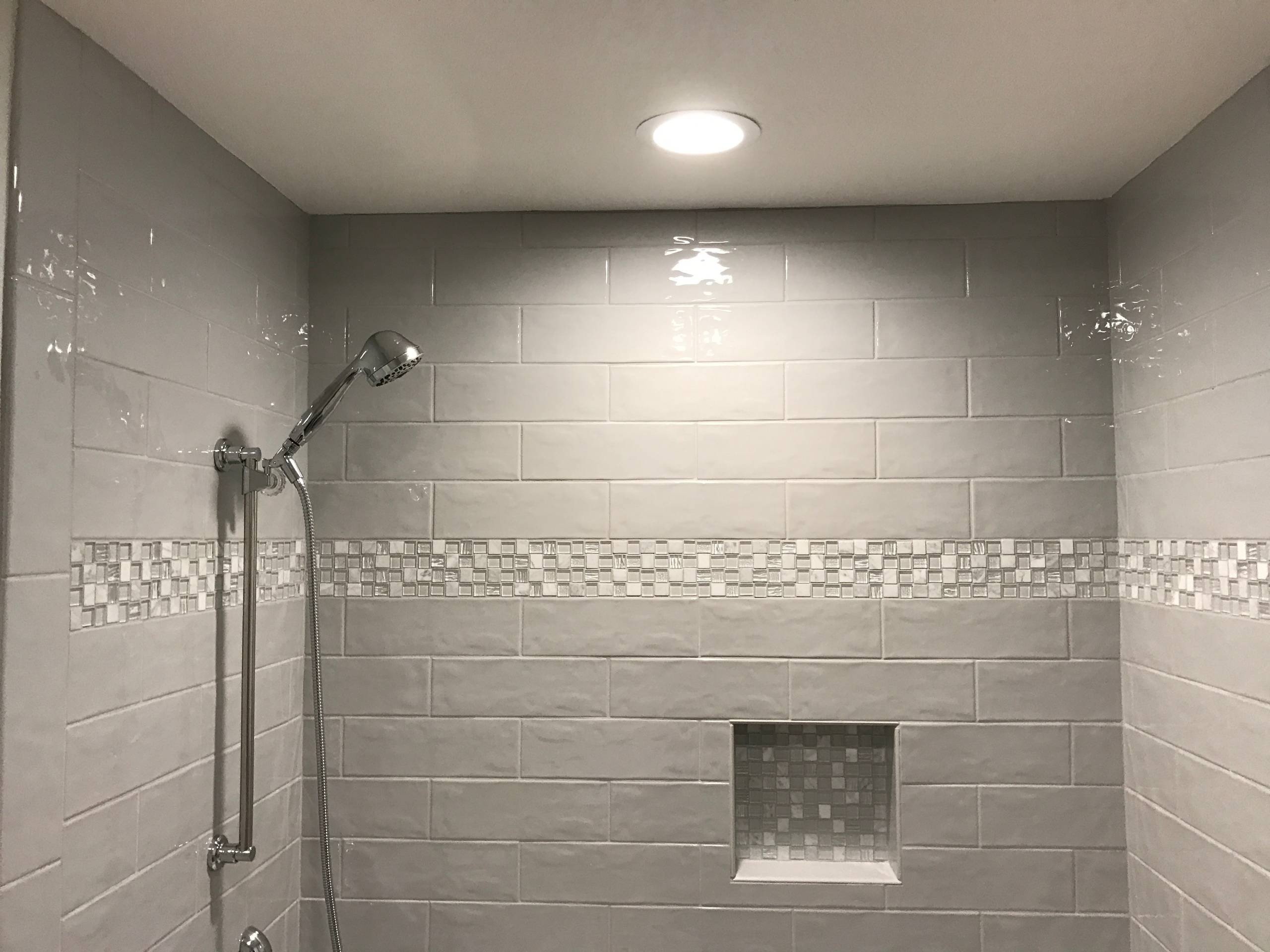 Elegant Grey Bathroom Remodel