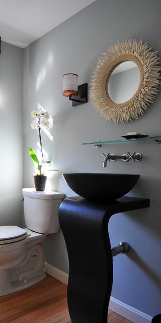 Elegant Half Bath Contemporary Bathroom Boston By