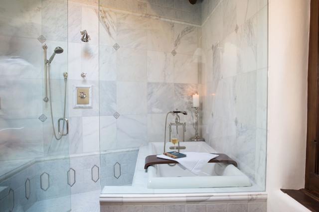 Elegant Marble Bath Santa Fe Nm Transitional Bathroom