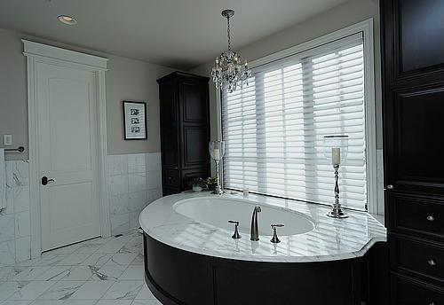 Elegant Marble Bathroom Contemporary Bathroom Other