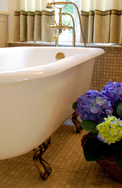 Elegant Marble Master Bath, by Bradshaw Designs in San Antonio traditional-bathroom