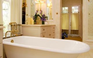 Elegant Marble Master Bath By Bradshaw Designs In San