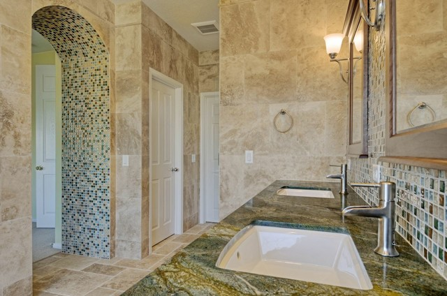 Elegant master bath mediterranean bathroom san diego for Elegant master bathroom ideas