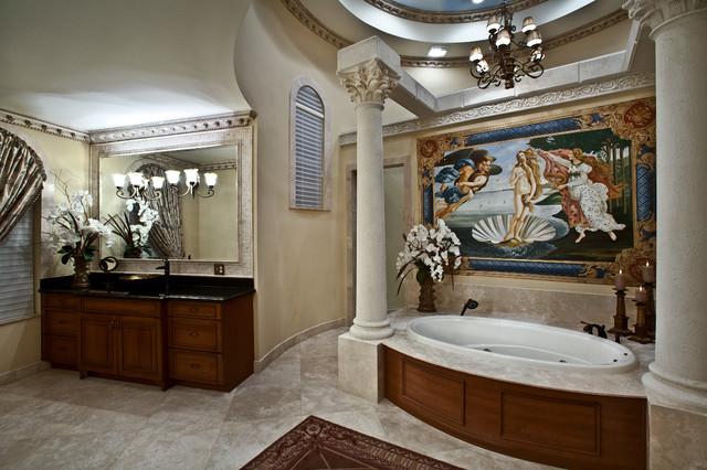 Elegant master bath mediterranean bathroom miami for Elegant master bathroom designs