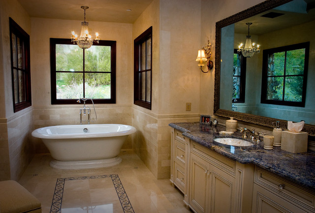 Elegant master bathroom for Traditional master bathroom ideas