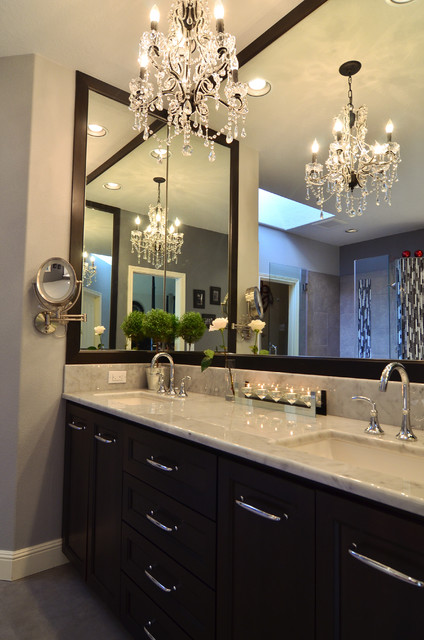 elegant master bathroom remodel - Contemporary - Bathroom ...