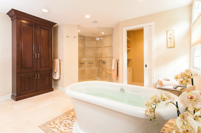 Elegant Master Suite Retreat Traditional Bathroom Boston By Roomscapes Luxury Design Center