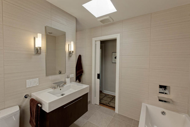Elegant Modern Bath Modern Bathroom Chicago By