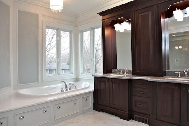 Elegant New Build traditional-bathroom