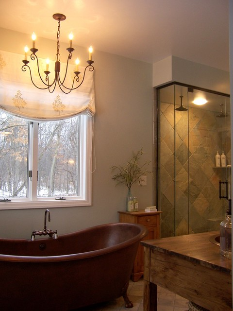 elegant rustic master bathroom rustic bathroom grand rapids by