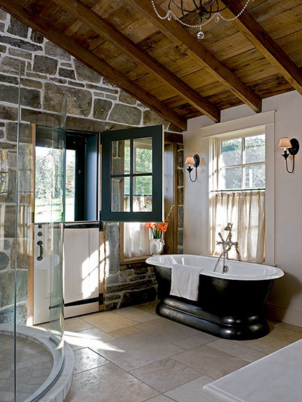 elegant rustic rustic bathroom boston by sargent design