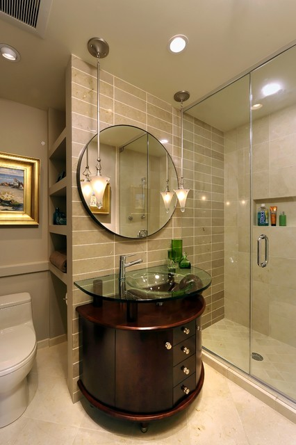 Elegant small bathroom in mclean for Bathroom ideas elegant