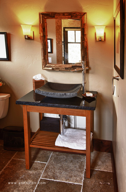 Salt Lamps Blue Ridge Ga : Elegant Timberframe - Traditional - Bathroom - Salt Lake City - by Ane Hatch & Associates
