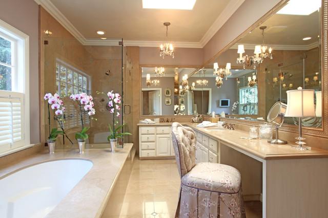 elegant traditional in la canada traditional bathroom los