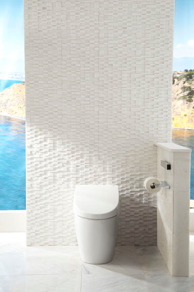 Elevations Marble Bathroom Feature Wall Contemporary