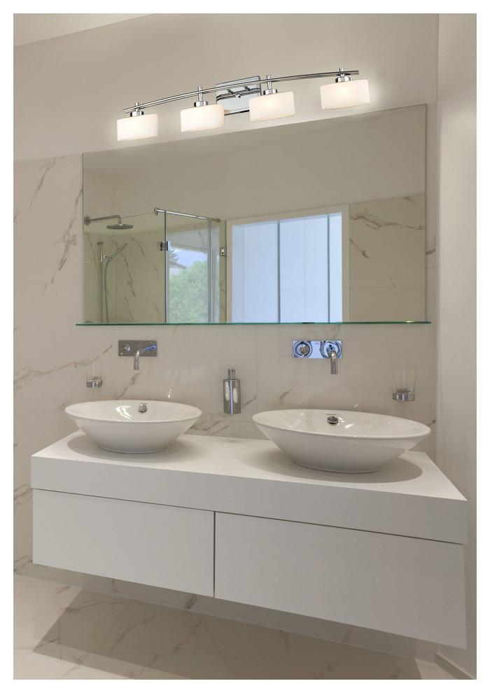Elk Lighting 17083 4 Eastbrook Polished Chrome 4 Light Vanity Contemporary Bathroom Chicago By Lighting Reimagined Houzz
