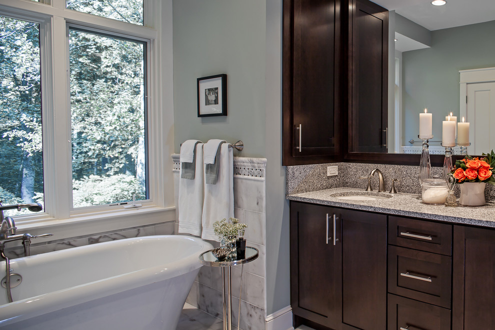 Bathroom - traditional bathroom idea in Charlotte