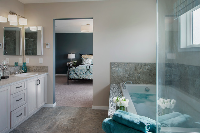 Ellerton Show Home in Heron Pointe (Airdrie, AB) transitional-bathroom