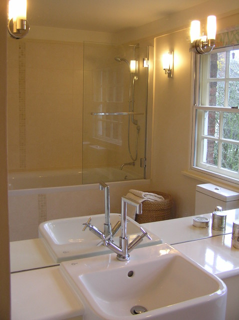 En suite bathroom traditional bathroom london by for Small ensuite bathroom