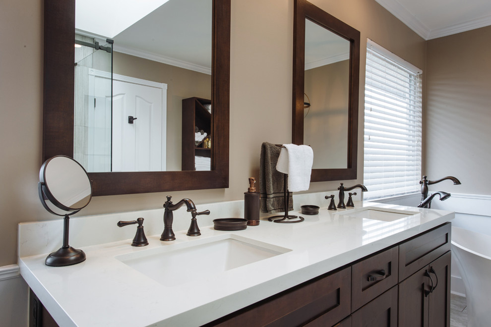En suite Wainscoting and Oil Rubbed Bronze Renovation in ...