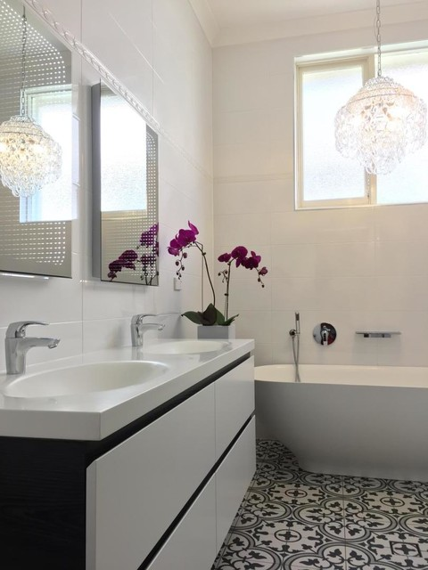 Encaustic Tiles Look Sydney Contemporary Bathroom Sydney By Kalafrana Ceramics