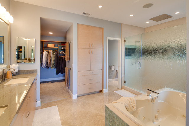 Encinitas california bathroom remodel contemporary for Bathroom remodel san diego
