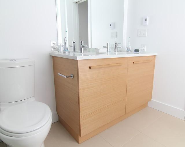 Engineered Oak Vanity Modern Bathroom Ottawa By