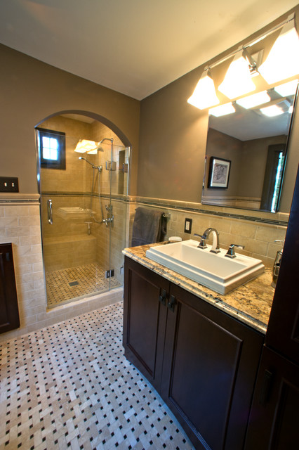 English Cottage Style Home Bathroom Remodel