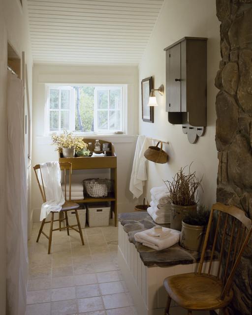 English Country Timber Frame traditional-bathroom