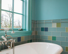 English Style Country House Addition traditional bathroom