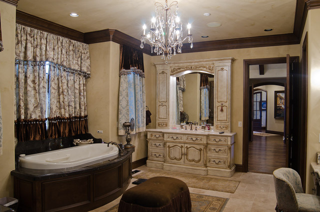 English Tudor Estate Traditional Bathroom Oklahoma .