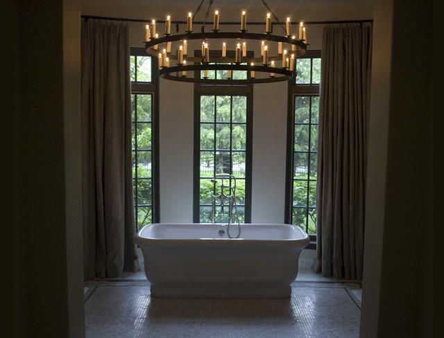 English Tudor Master Bath Traditional Bathroom