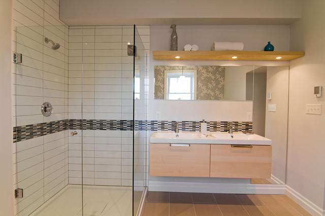 Ensuite bathroom modern bathroom toronto for Contemporary ensuite